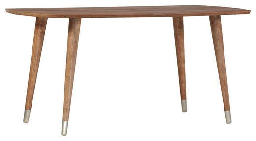 ESSTISCH Mangoholz massiv Naturfarben - Messingfarben/Naturfarben, Design, Holz (160/90/78cm) - Carryhome