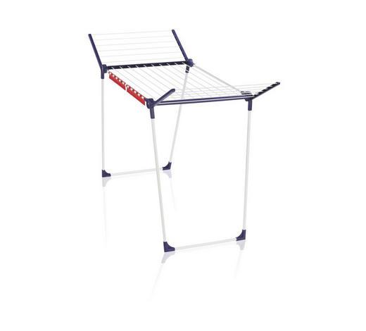 STANDTROCKNER  - Blau/Weiß, Basics, Metall (95/105/66cm) - Leifheit