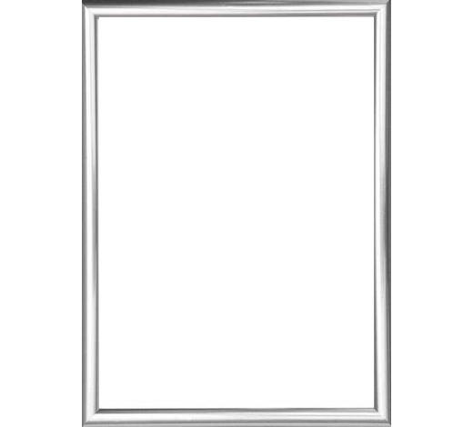 RÁM NA OBRAZY - barvy stříbra, Basics, umělá hmota/sklo (31/41cm)
