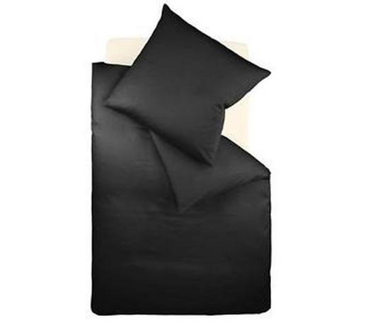 BETTWÄSCHE Makosatin Schwarz 135/200 cm - Schwarz, Basics, Textil (135/200cm) - Fleuresse