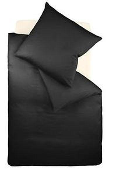 BETTWÄSCHE Makosatin Schwarz 135/200 cm - Schwarz, Textil (135/200cm) - FLEURESSE