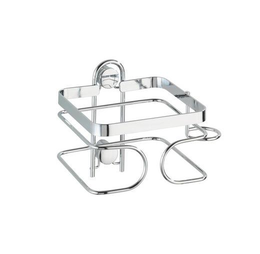 HAARTROCKNERHALTER Metall - Edelstahlfarben, Basics, Metall (13,5/10/10cm)