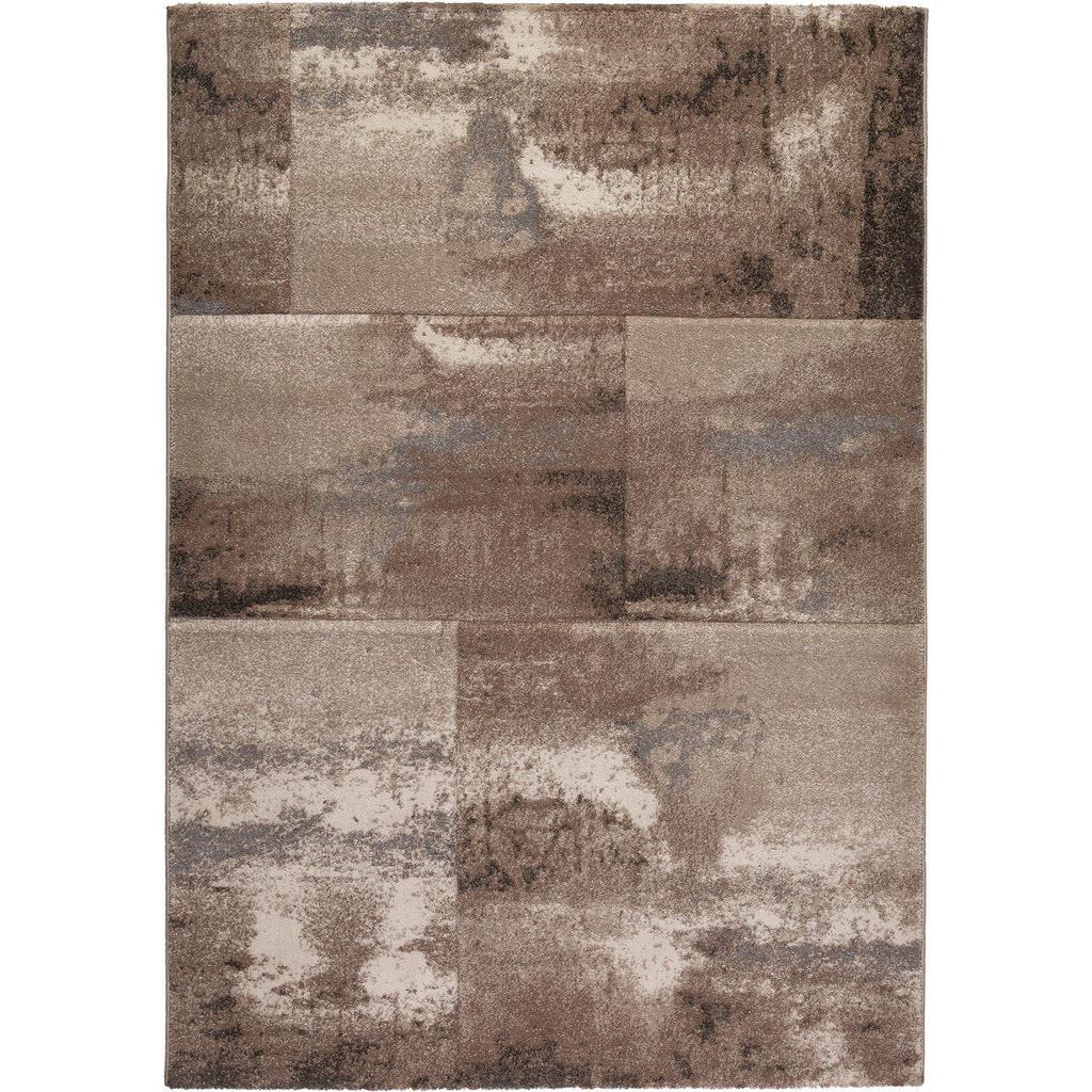 Novel Webteppich 80/150 cm taupe , Albufeira , Textil , Abstraktes , 80 cm , Frisée , für Fußbodenheizung geeignet, Fasern thermofixiert (heatset), lichtunempfindlich, leicht zusammenrollbar , 003809065254