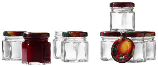 MARMELADENGLAS-SET - Transparent, Glas/Metall (0,47l)