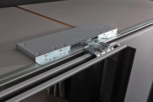 TÜRDÄMPFER 4-teilig für Mitteltüren Grau - Grau, Design, Kunststoff - Hom`in