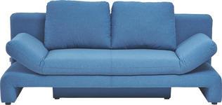 SCHLAFSOFA in Textil Blau - Blau/Schwarz, Design, Kunststoff/Textil (200/76/90cm) - Xora