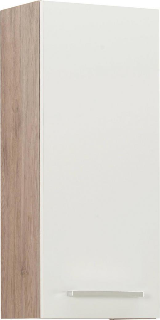 HÄNGESCHRANK - Chromfarben/Eichefarben, Design, Holzwerkstoff/Metall (30/70/20cm) - Xora
