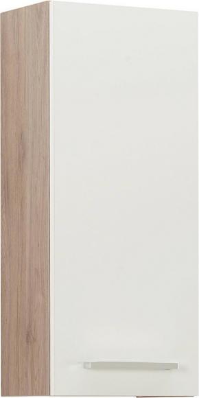 VÄGGHÄNGT SKÅP - vit/kromfärg, Design, metall/träbaserade material (30/70/20cm) - Xora