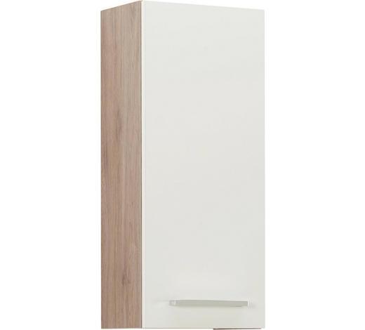 ZÁVĚSNÁ SKŘÍŇKA, barvy dubu - bílá/barvy dubu, Design, kov/kompozitní dřevo (30/70/20cm) - Xora