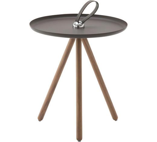 BEISTELLTISCH in Braun, Grau, Nussbaumfarben - Nussbaumfarben/Braun, Design, Holz/Metall (40/45cm) - Rolf Benz
