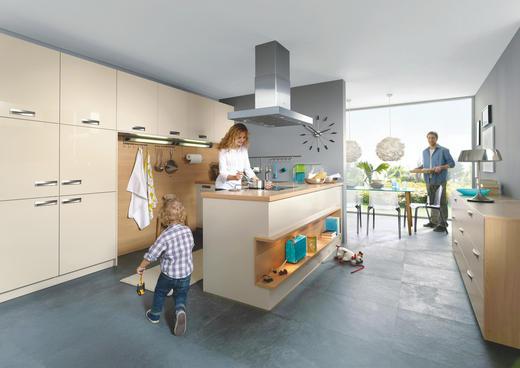 EINBAUKÜCHE - Design, Holzwerkstoff - Novel