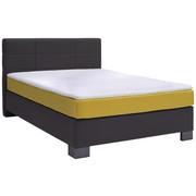 POSTEL BOXSPRING, 140 cm  x 200 cm, textilie, antracitová, žlutá - barvy grafitu/antracitová, Design, textilie (140/200cm) - Hom`in