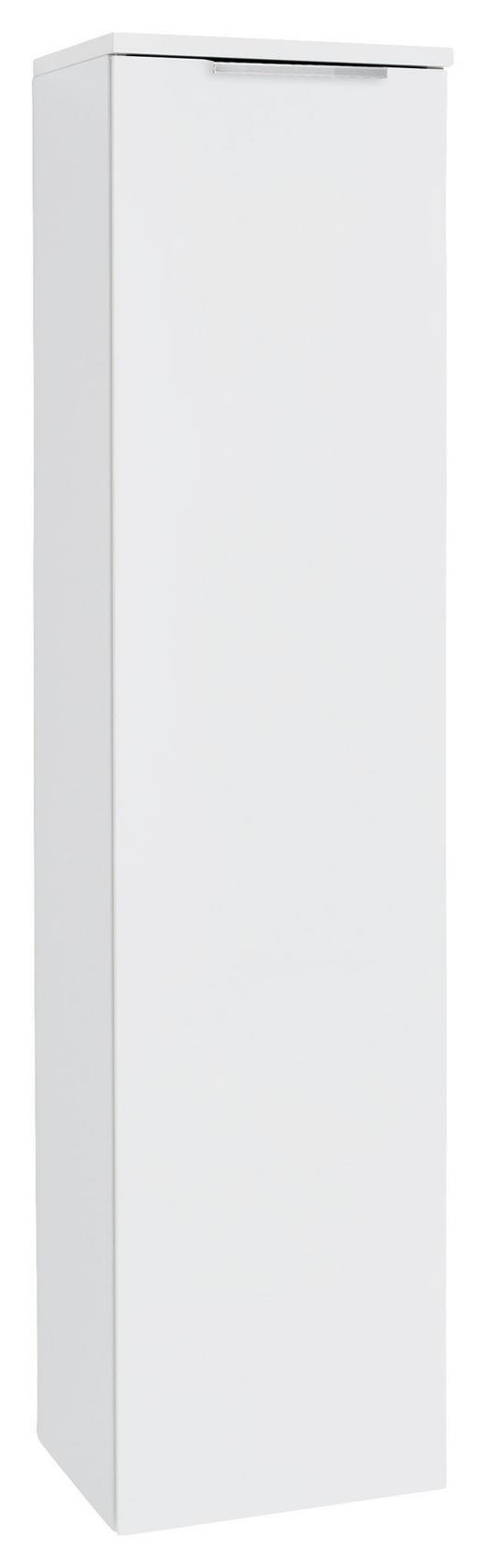 MIDISCHRANK Weiß - Chromfarben/Weiß, Design, Glas/Metall (30/129/30cm) - Dieter Knoll