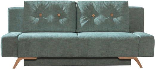 SCHLAFSOFA in Hellblau Textil - Hellblau, Design, Holz/Textil (202/90/90cm) - Novel