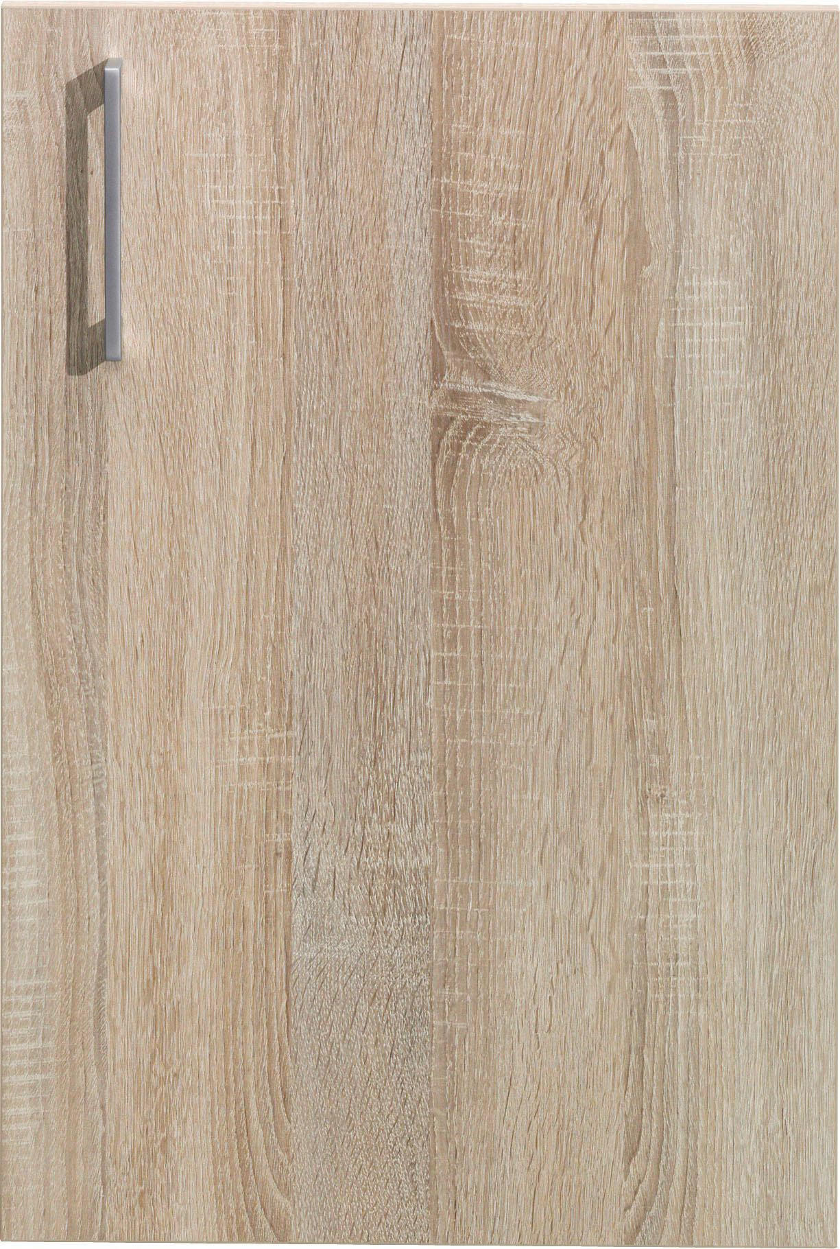 TÜR 43/64/1,5 cm Eichefarben - Eichefarben/Silberfarben, Design, Kunststoff (43/64/1,5cm) - CS SCHMAL