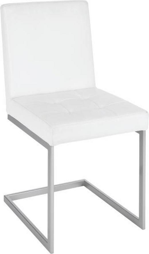 SCHWINGSTUHL Echtleder Weiß - Weiß, Design, Leder/Metall (48/92/57cm) - Moderano