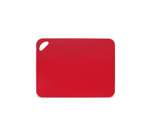 SCHNEIDEBRETT - Rot, Basics, Kunststoff (38/29/0,2cm) - Homeware