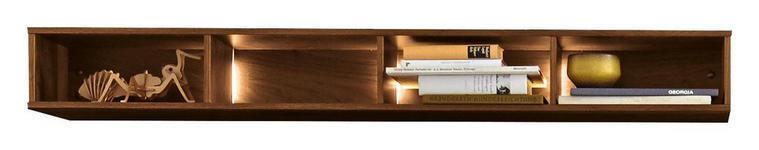 WANDREGAL 143/16/28 cm  - Nussbaumfarben, Design, Holz/Holzwerkstoff (143/16/28cm) - Moderano