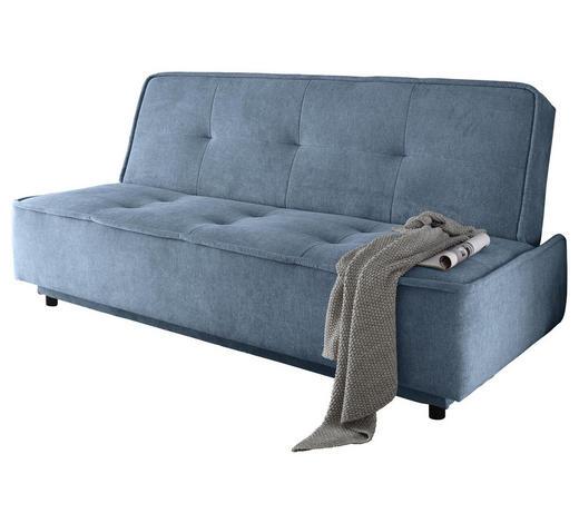 SCHLAFSOFA in Textil, Holzwerkstoff Blau - Blau/Schwarz, MODERN, Holzwerkstoff/Kunststoff (206/95/95cm) - Carryhome