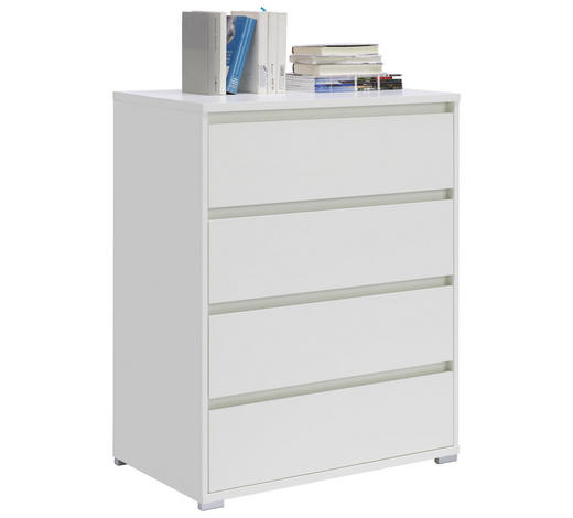 KOMMODE 80/103/48 cm - Silberfarben/Weiß, Design, Holzwerkstoff/Kunststoff (80/103/48cm) - Carryhome