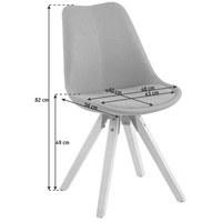 STUHL Webstoff Grau - Eichefarben/Grau, Design, Holz/Kunststoff (48/82/56cm) - Carryhome