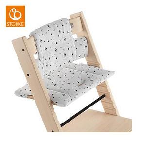 stokke tripp trapp sittdyna - ljusgrå, Basics, textil (28/21/7cm) - Stokke