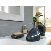 Wc-bürstengarnitur - Silberfarben/Schwarz, Design, Kunststoff (17/37cm) - Spirella