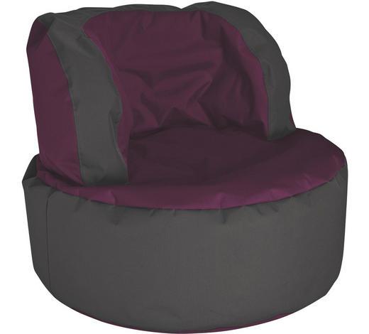 SITZSACK in Textil Grau, Aubergine - Aubergine/Grau, Design, Textil (85/65/85cm)