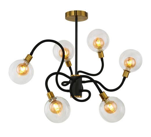 LED-HÄNGELEUCHTE - Klar/Goldfarben, LIFESTYLE, Glas/Metall (130/94cm)