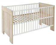 GITTERBETT Paula II - Eichefarben, Basics, Holz/Holzwerkstoff (78/82/144cm) - MY BABY LOU