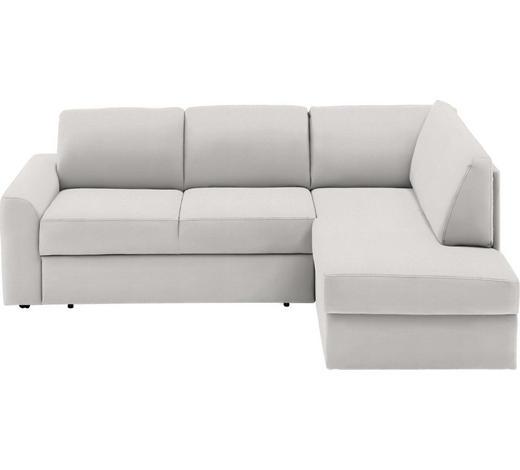 WOHNLANDSCHAFT in Textil Weiß - Schwarz/Weiß, KONVENTIONELL, Kunststoff/Textil (227/167cm) - Venda