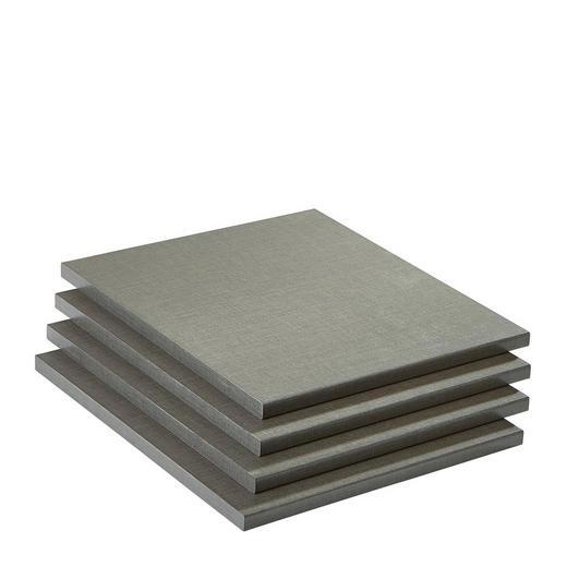 EINLEGEBODENSET 4-teilig Grau - Grau, Design (43/2,2/54cm) - Carryhome