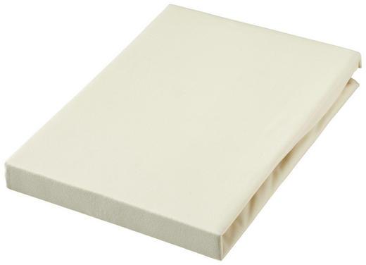TOPPER SPANNBETTTUCH Jersey Creme bügelfrei - Creme, Basics, Textil (90/190cm) - Novel
