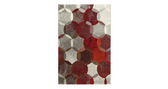 WEBTEPPICH - Rotbraun/Rot, KONVENTIONELL, Textil (133/200cm) - Esprit