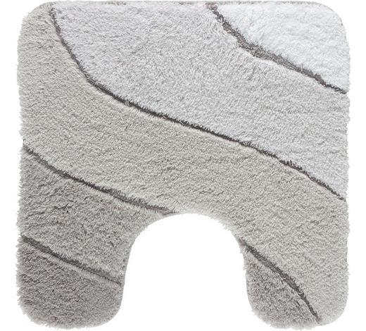 WC-VORLEGER - Grau, Design, Kunststoff/Textil (55/2/55cm) - Kleine Wolke