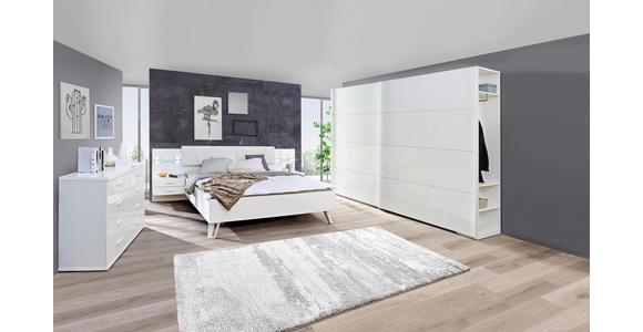 SCHWEBETÜRENSCHRANK in Weiß - Weiß, Design, Holzwerkstoff/Metall (242,8/222,9/61,2cm) - Voleo