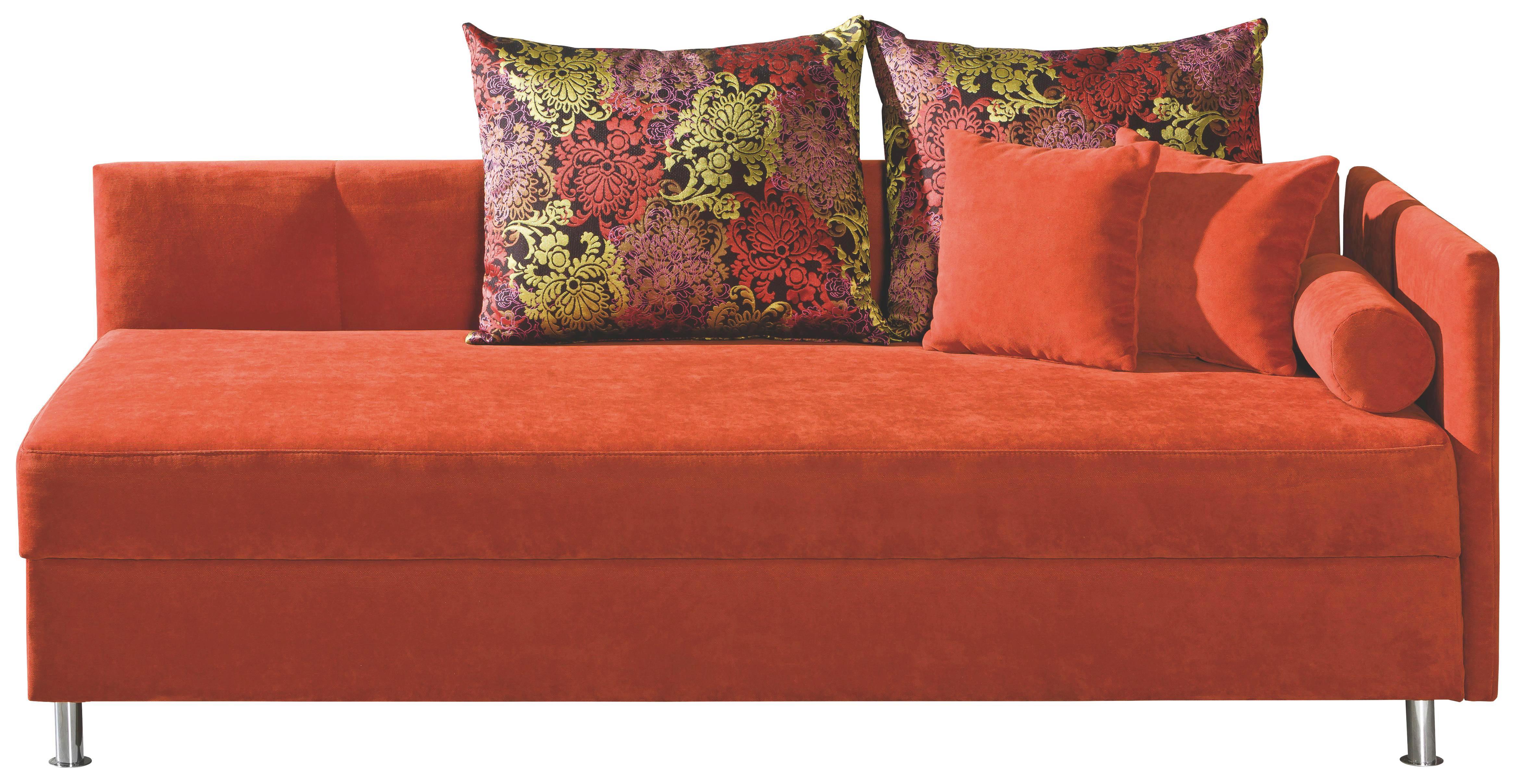 LIEGE Terra cotta - Chromfarben/Terra cotta, KONVENTIONELL, Textil/Metall (200/48/90cm) - NOVEL
