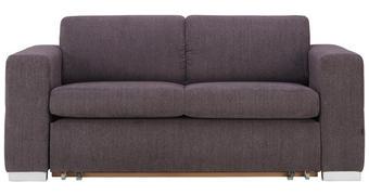 SCHLAFSOFA in Textil Anthrazit  - Anthrazit/Silberfarben, KONVENTIONELL, Kunststoff/Textil (190/83/98cm) - Carryhome