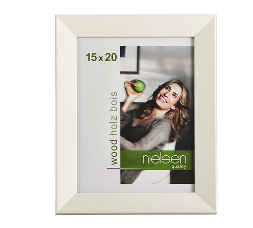 BILDERRAHMEN  Weiß - Weiß, Basics, Holz (15/20cm) - Nielsen