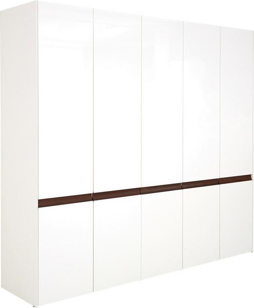 DREHTÜRENSCHRANK in Weiß - Eichefarben/Weiß, Design, Holzwerkstoff (252/229,6/61,4cm) - Hülsta