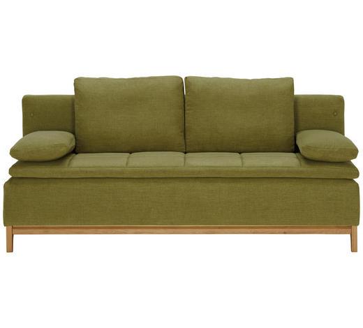 SCHLAFSOFA in Textil Grün - Grün, MODERN, Holz/Textil (200/96/88cm) - Joka