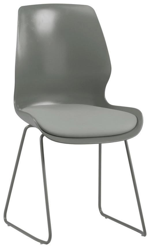 STUHL Lederlook Grau - Grau, Design, Kunststoff/Textil (48/87/55cm) - TI`ME