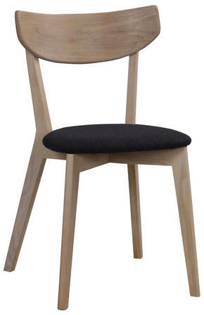 STOL - svart/ekfärgad, Design, trä/textil (48/80/47cm) - Rowico