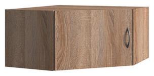 AUFSATZSCHRANK in Eichefarben   - Eichefarben/Alufarben, KONVENTIONELL, Holzwerkstoff/Kunststoff (80/40/80cm) - Xora