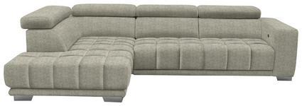 WOHNLANDSCHAFT in Textil Beige  - Chromfarben/Beige, Design, Textil (207/301cm) - Xora