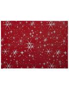 TISCHSET - Rot, Basics, Textil (33/48cm) - X-Mas