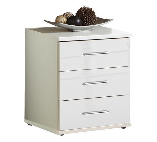 KOMODA, bílá - bílá/barvy chromu, Design, kompozitní dřevo/umělá hmota (46/55/40cm) - Xora