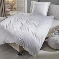 BETTWÄSCHE Jacquard Weiß 155/220 cm - Weiß, Design, Textil (155/220cm) - Fleuresse