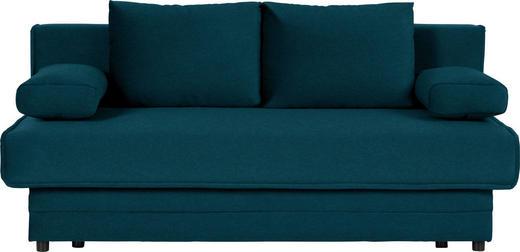 SCHLAFSOFA in Textil Petrol - Petrol, Design, Textil (200/90/100cm) - Novel