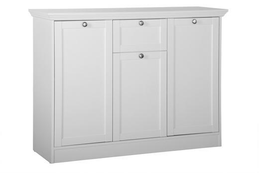 KOMMODE - Silberfarben/Weiß, ROMANTIK / LANDHAUS, Holzwerkstoff/Metall (120/90/40cm) - Carryhome